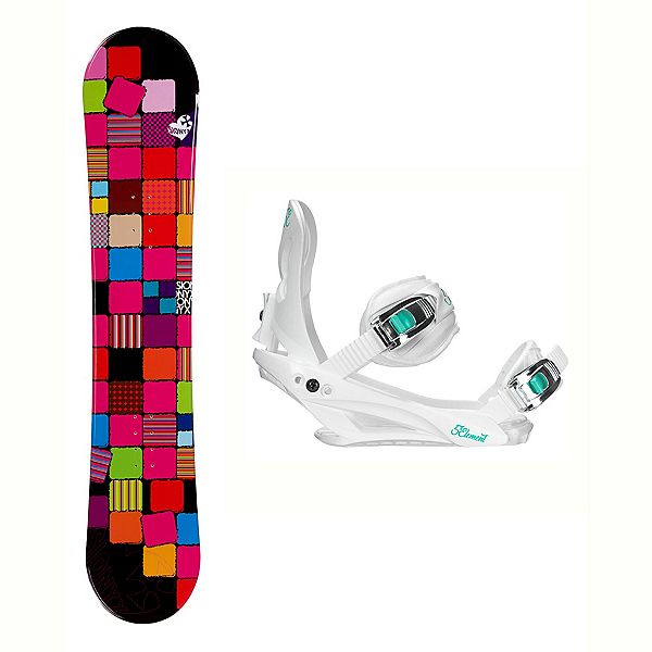 Sionyx Quilt Layla Womens Snowboard and Binding Package, , 600