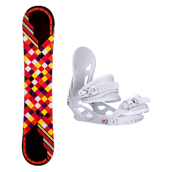 Joyride Checkers Black Rocker Solstice 4 Womens Snowboard and Binding Package, , 600