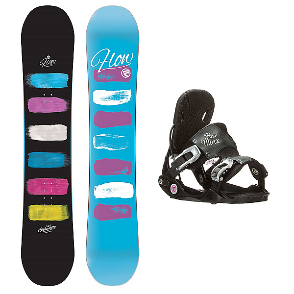 Flow Silhouette Minx Womens Snowboard and Binding Package, , 600