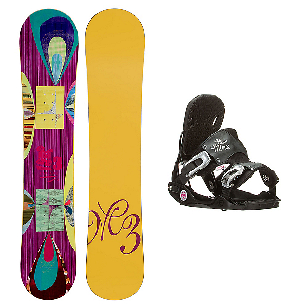 Millenium 3 Escape Minx Womens Snowboard and Binding Package, , 600