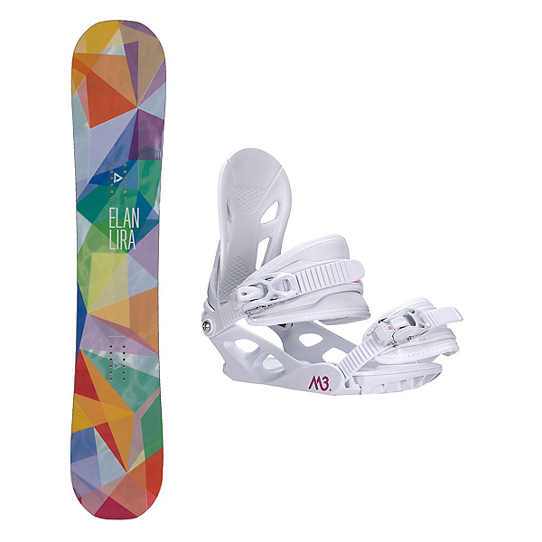 Elan Lira Solstice 4 Womens Snowboard and Binding Package, , 600