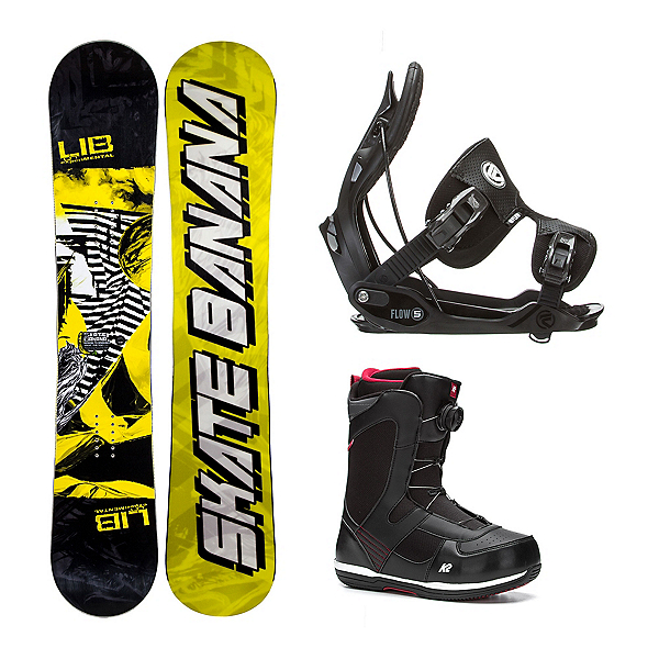 Lib Tech Skate Banana Narrow Seem Complete Snowboard Package, , 600