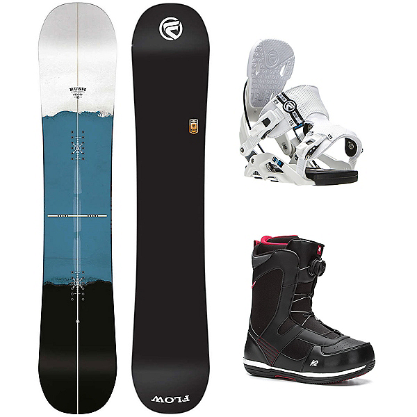 Flow Rush Seem Complete Snowboard Package, , 600
