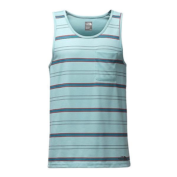 The North Face Crag Tank Mens Tank Top (Previous Season), Blizzard Blue Heather Stripe, 600