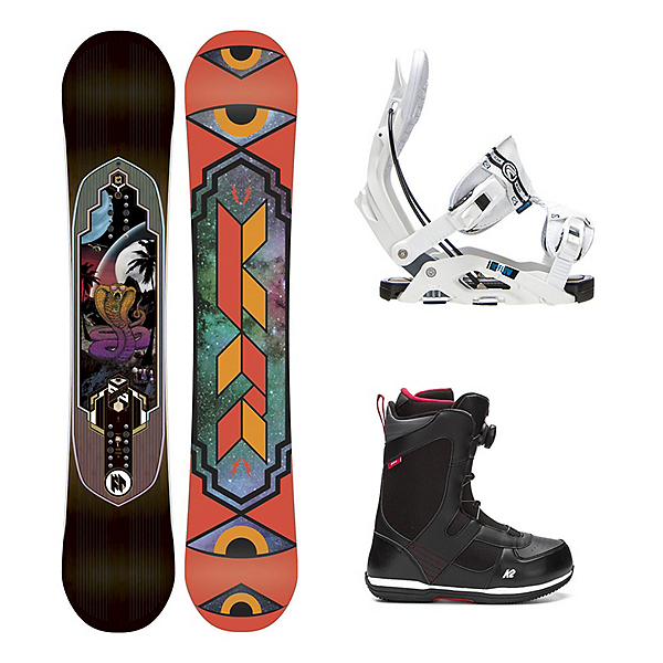 K2 Fastplant Seem Complete Snowboard Package, , 600