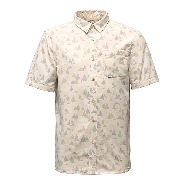 The North Face Short Sleeve Pursuit Mens Shirt (Previous Season), Vintage White Sasquatch Print, 600