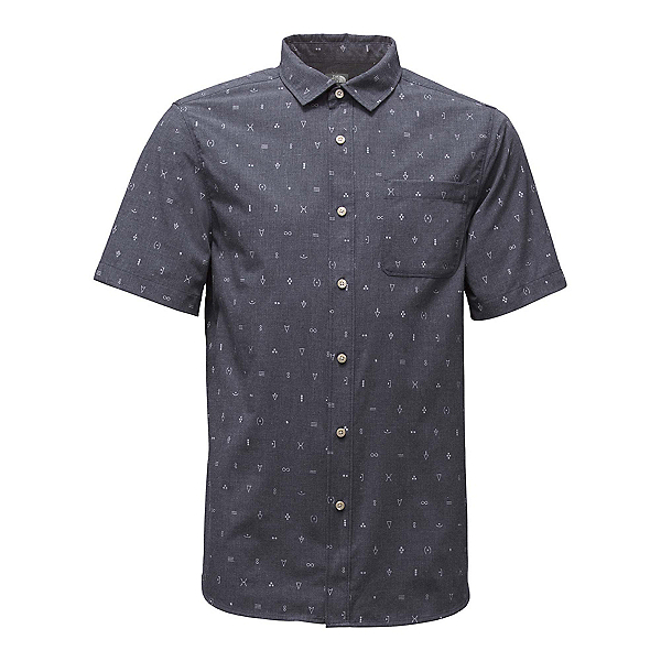 The North Face Short Sleeve Pursuit Mens Shirt (Previous Season), Urban Navy Uncharted Print, 600