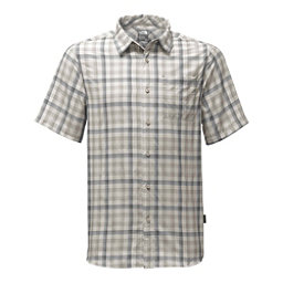 The North Face Short Sleeve Getaway Mens Shirt (Previous Season), Zinc Grey Plaid, 256