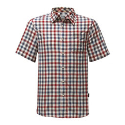 The North Face Short Sleeve Getaway Mens Shirt (Previous Season), Rage Red Plaid, 256