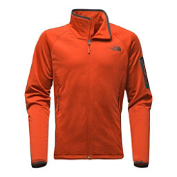 The North Face Borod Full Zip Mens Fleece (Previous Season), Tibetan Orange-Asphalt Grey, 256