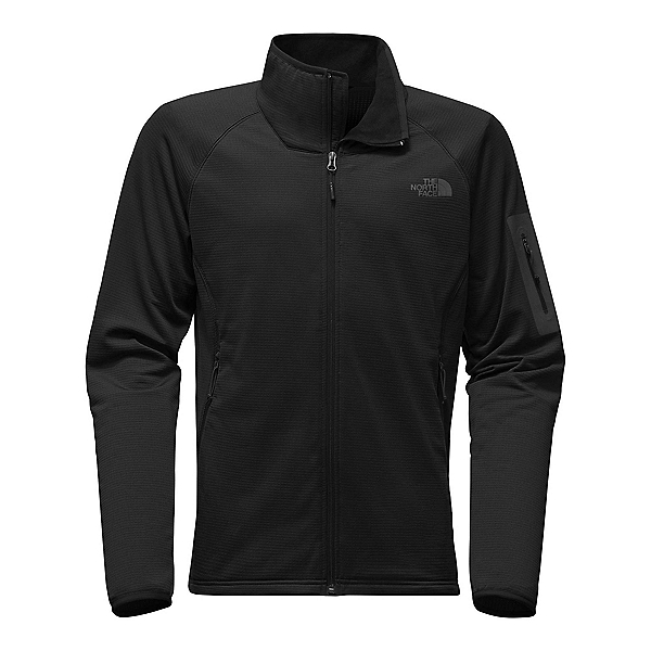 The North Face Borod Full Zip Mens Fleece Mens Jacket, TNF Black-TNF Black, 600
