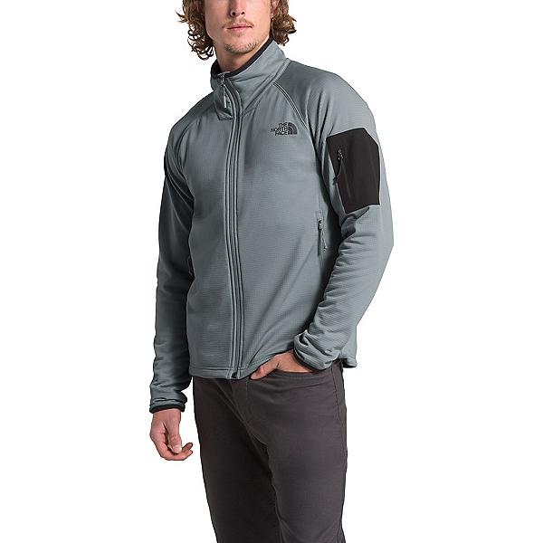 The North Face Borod Full Zip Mens Fleece Mens Jacket, Mid Grey-TNF Black, 600