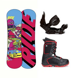 Ride Lowride Militia 4 Kids Complete Snowboard Package, , 256