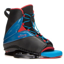 CWB Empire Wakeboard Bindings, Black-Blue-Red, 256