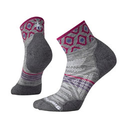 SmartWool PHD Outdoor Light Mini Pattern Hiking Womens Socks, Light Gray, 256