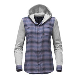 The North Face Campground Shacket Womens Jacket (Previous Season), Coastal Fjord Blue Plaid, 256
