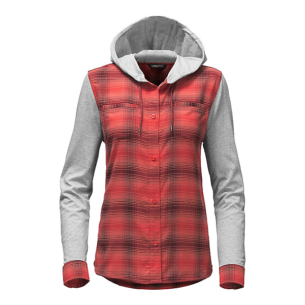 The North Face Campground Shacket Womens Jacket (Previous Season), Cayenne Red Plaid, 600