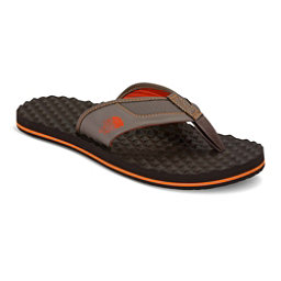 The North Face Base Camp Plus Mens Flip Flops (Previous Season), Falcon Brown-Tibetan Orange, 256