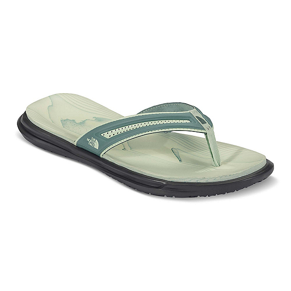 The North Face Base Camp XtraFoam Womens Flip Flops (Previous Season), Trellis Green-Ambrosia Green, 600
