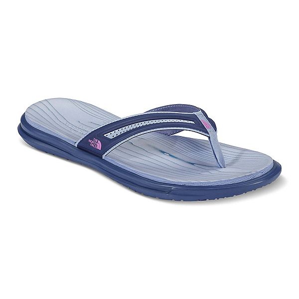 The North Face Base Camp XtraFoam Womens Flip Flops (Previous Season), Coastal Fjord Blue-Sweet Viole, 600