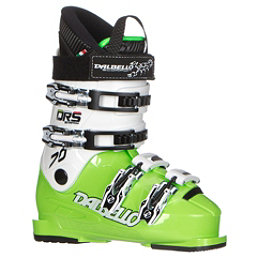 Dalbello Scorpion DRS 70 Junior Race Ski Boots, Lime-White, 256