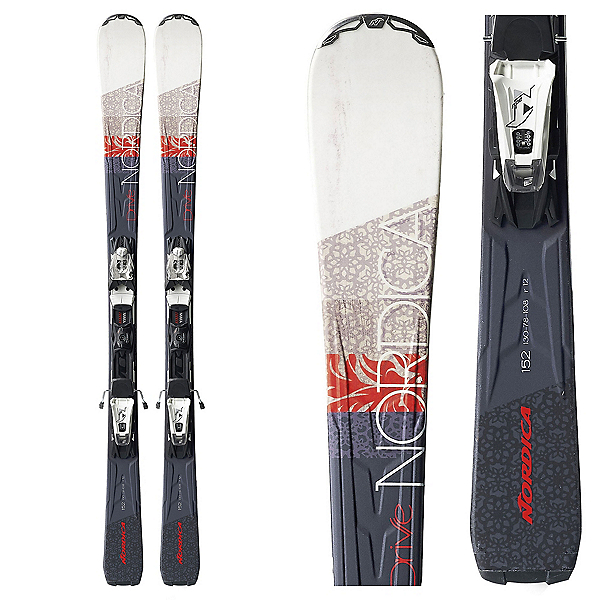 Nordica Drive 78 CA EVO Womens Skis with EVO Light CT Bindings, , 600