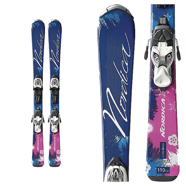 Nordica Little Belle FT Kids Skis with Marker 4.5 EPS Bindings, , 600