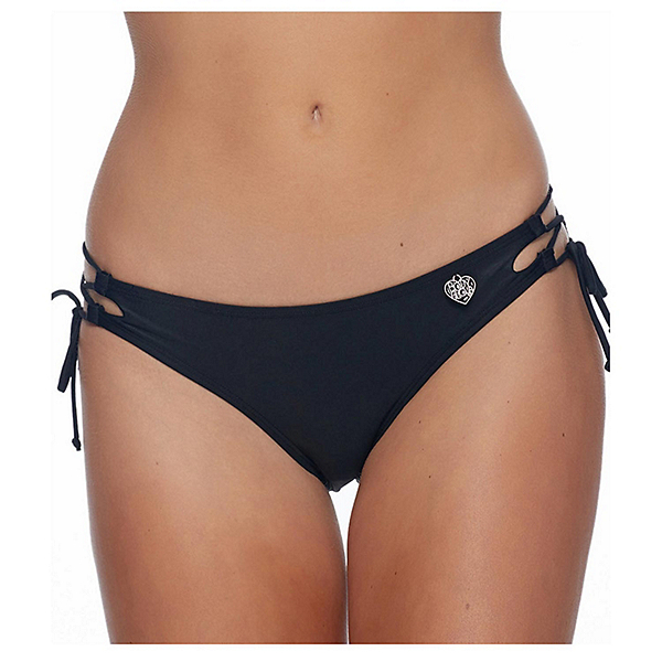 Body Glove Smoothies Tie Side Mia Bathing Suit Bottoms, Black, 600