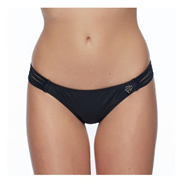Body Glove Smoothies Flirty Surf Rider Bathing Suit Bottoms, Black, 256