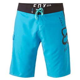 Fox 360 Solid Mens Board Shorts, Acid Blue, 256