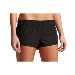 Hurley Solid Beachrider Supersuede Womens Board Shorts, Black, 256