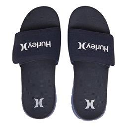 Hurley Fusion Suede Slide Mens Sandals, Obsidian, 256