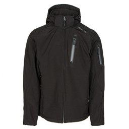 Karbon Edison Mens Soft Shell Jacket, Black-Charcoal, 256