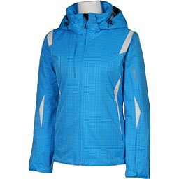 Karbon Amber Womens Insulated Ski Jacket, Blue Print-Arctic White, 256