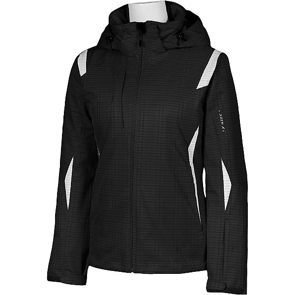 Karbon Amber Womens Insulated Ski Jacket, Black Print-Arctic White, 600