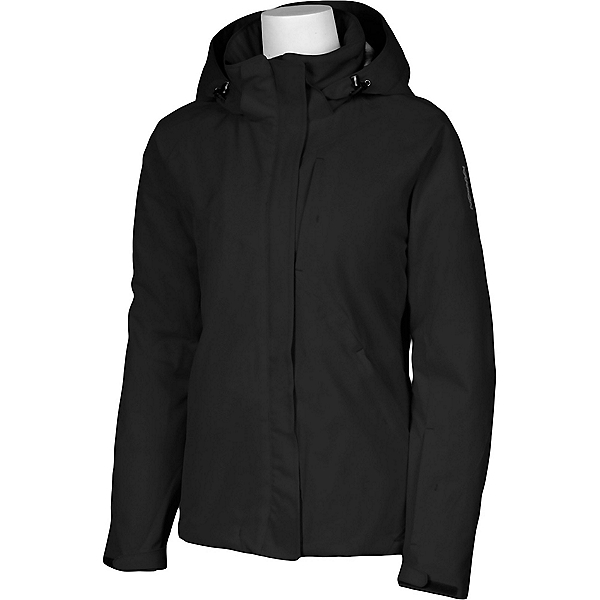 Karbon Amethyst Womens Insulated Ski Jacket, Black-Black, 600