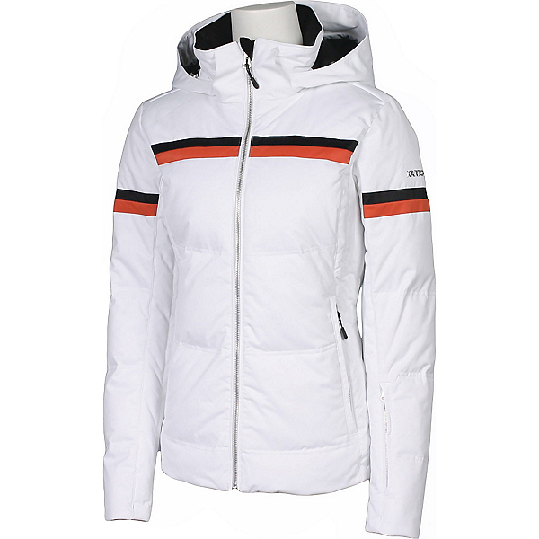 Karbon Pascal Womens Insulated Ski Jacket, Arctic White-Persimmon-Black, 600