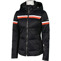 Karbon Pascal Womens Insulated Ski Jacket, Black-Persimmon-Arctic White, 256