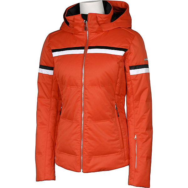 Karbon Pascal Womens Insulated Ski Jacket, Persimmon-Arctic White-Black, 600