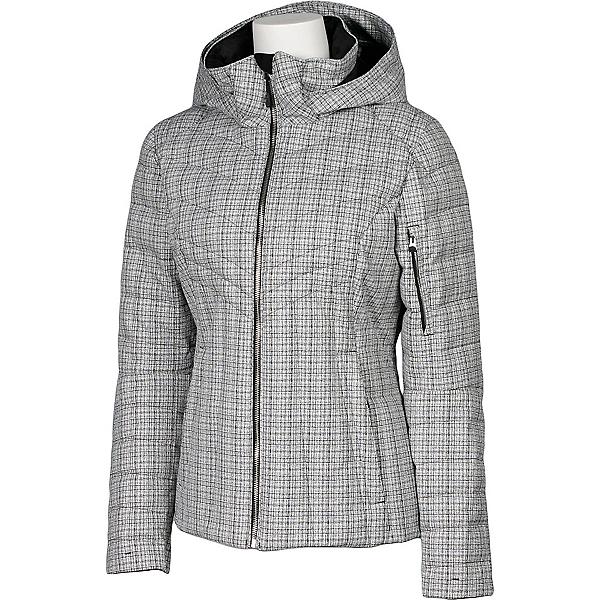 Karbon Amper Womens Insulated Ski Jacket, Arctic White Tweed, 600