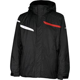 Karbon Jupiter Mens Insulated Ski Jacket, Black-Black-Red-Arctic White, 256