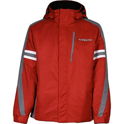 Karbon Saturn 16 Mens Insulated Ski Jacket, Red-Smoke-Arctic White, 256