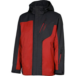 Karbon Granite Mens Insulated Ski Jacket, Black-Red-Red, 256