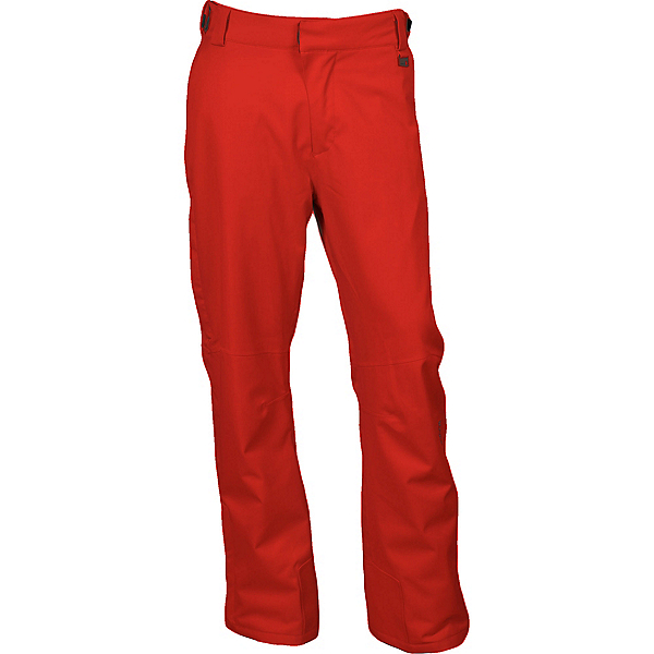 Karbon Rock Mens Ski Pants, Red-Charcoal, 600