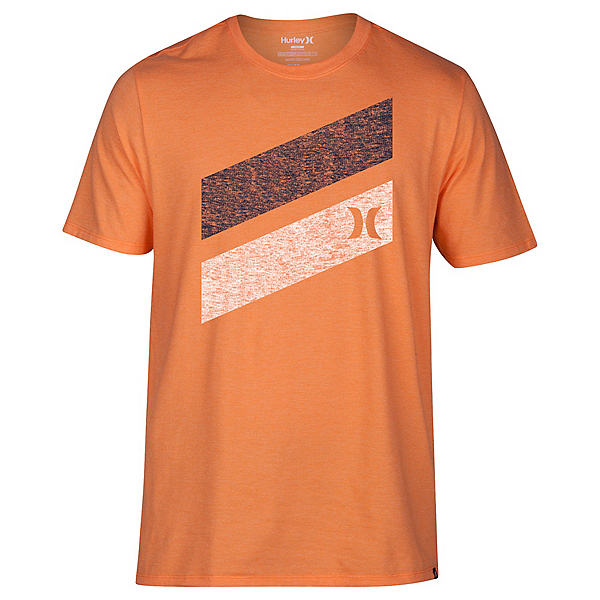 Hurley Icon Slash Push Through Mens T-Shirt, Bright Mandarin Heather, 600