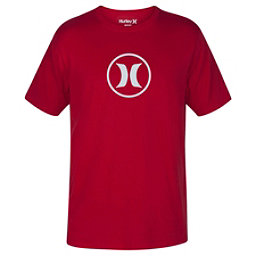 Hurley Circle Icon Dri-Fit Mens T-Shirt, Gym Red, 256