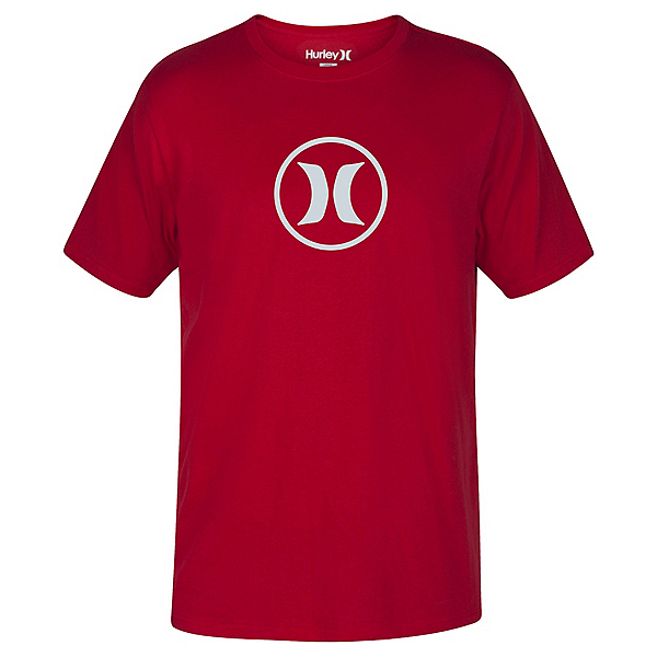 Hurley Circle Icon Dri-Fit Mens T-Shirt, Gym Red, 600