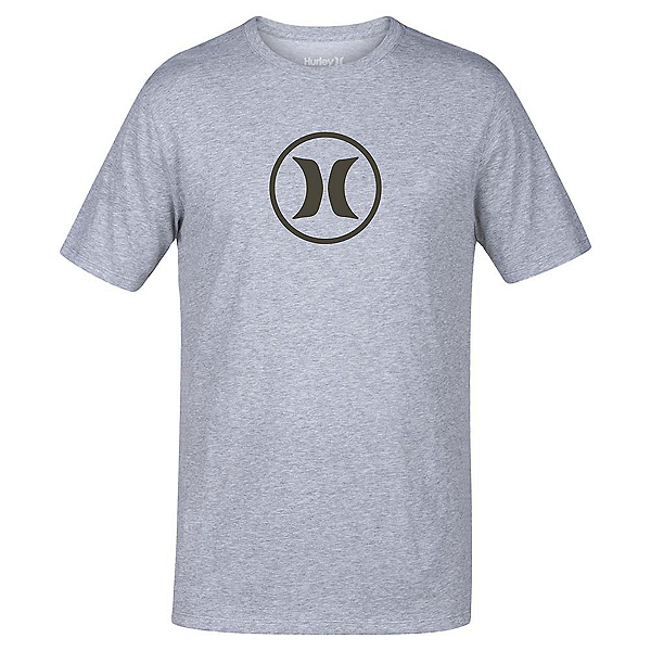 Hurley Circle Icon Dri-Fit Mens T-Shirt, Dark Grey, 600