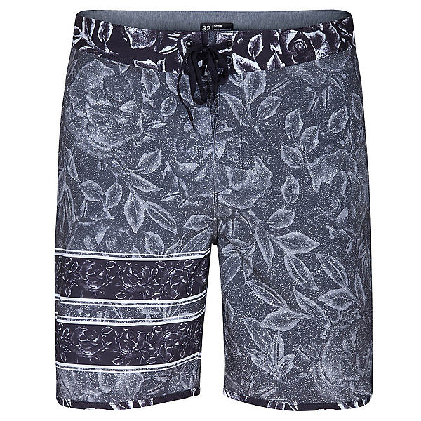 Hurley Phantom Block Party Rosewater Mens Board Shorts, Black, 600