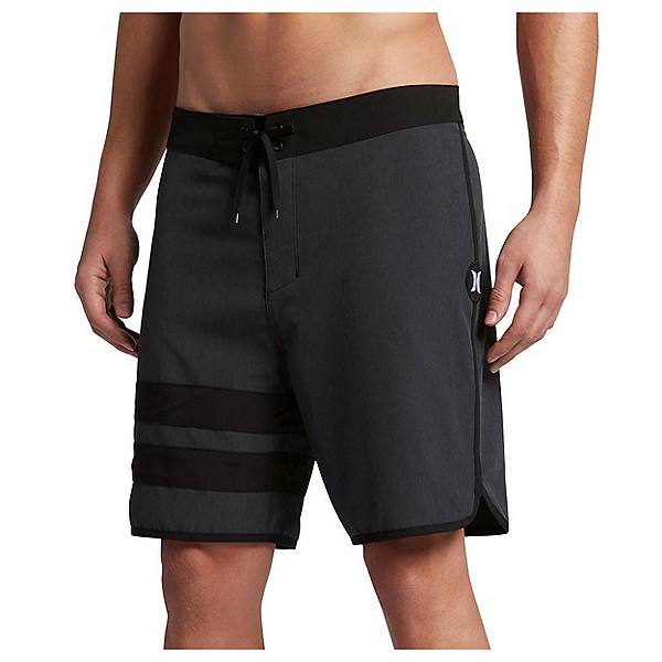 Hurley Phantom Block Party Heather 2.0 Mens Board Shorts, Black, 600